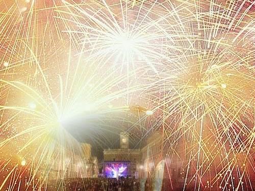 capodanno ravenna in piazza in centro storico foto